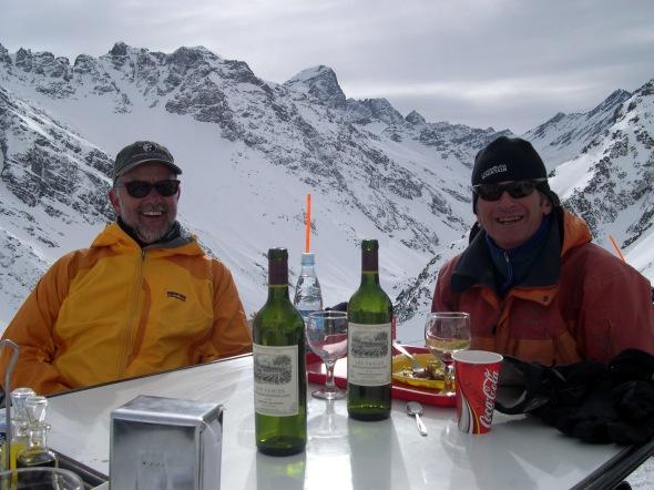 Frank Coffey, J. Roberts avalanche forecasting @ Tio Bob's-Portillo Chile