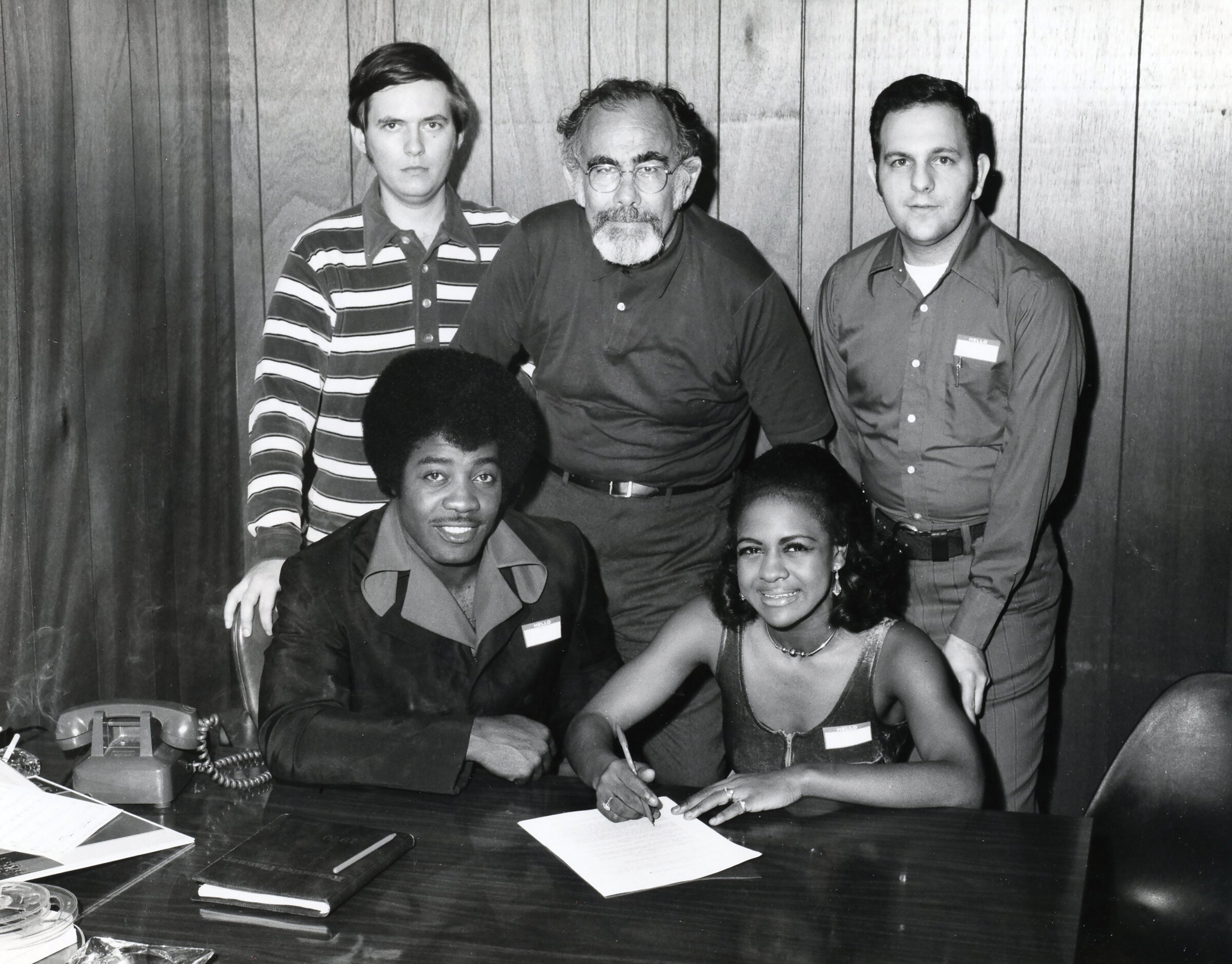 Left to right, top to bottom: Tommy Couch, Jerry Wexler, Mitchell Malouf, Jo Jo Benson ,and Peggy Scott.